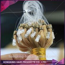 Extensões remotas do cabelo de 100% Human Remy Microloop