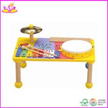2014 neue hölzerne Instrument Musik Spielzeug, beliebte Holz Instrument Musik und heißer Verkauf bunte Instrument Musik Set W07A053