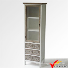 Solid Wood Handmade Wood Tall Cabinet