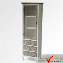 Solid Wood Handmade Wood Tall Cabinet