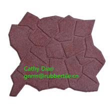 Kies-Muster, das im Freien Gummifußboden-Kindergarten-Gummimatte tragende-beständige Gummifliese verbindet