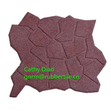 Teste padrão do cascalho que bloqueia a telha de borracha Resistente que veste o tapete de borracha do jardim de infância