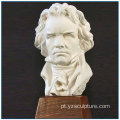 Músico Beethoven White Marble Bust Artwork