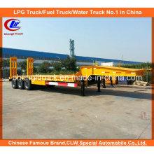 Semi-reboque de 45 camiões com 3 eixos de cargas pesadas para uso doméstico com rampas mecânicas