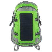 7Watts Solar Power Backpack com Solar Panel Carregador Solar Portátil para dispositivo 5V carregado