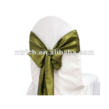 2015 wholesale cheap crinkle crushed chair sash for wedding decoration