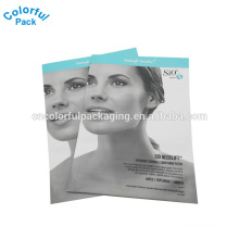 collagen facial mask bags/3 side sealing packaging bags/cosmatic packing pouch bag