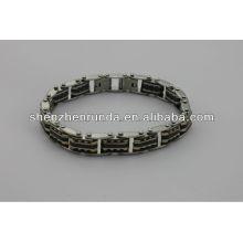 China fabricante, 2014 moda pulseira de aço inoxidável magnético, barato, de alta qualidade, homens deus pulseira