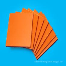 Plaque phénolique laminée en papier isolant orange