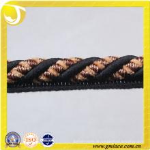Schwarzes Sofa-Dekor Seil für Kissen Dekor Wohnzimmer Bett Zimmer