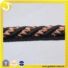 Decoración de sofá negro Cuerda para decoración de cojín Sala de estar Cama habitación