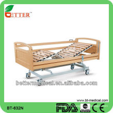 Домашнее хозяйство Электрическая регулируемая деревянная кровать с двумя функциями