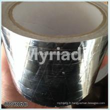 Ruban en papier kraft en aluminium, matériau de toiture réfléchissant et en argent Laminage en aluminium feuilleté