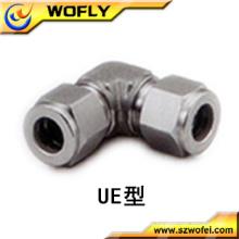 Equipo de gas tubo de acero inoxidable codo de unión de 90 grados
