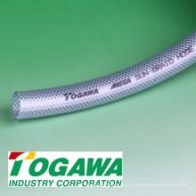 Manguera de trenzado MEGA Sun trenzada flexible de PVC y nylon. Fabricado por Togawa Industry. Hecho en Japón (manguera de extensión)
