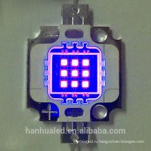 395-405 высокая мощность фиолетовый светодиод ультрафиолетовый фиолетовый Лампа УФ 10Вт светодиодный чип свет