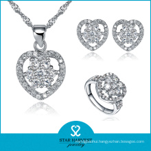 10 Years Manufacturer Amy 925 Sterling Silver Jewelry Set (R-0070)