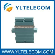 Aqua OM3 SC Fiber Optic Adapter Duplex adapter , SC 50/125 Fiber Optic Adaptor