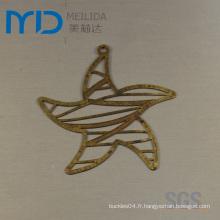 Boucles d'oreilles en filigrane en forme d'étoile dans Hollow out Fashion Designs