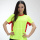 Summer round neck fluorescent green short sportwear
