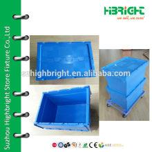 Logistic box plastic container lockable storage cages