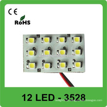 3528 luz de abóbada 12V luz do telhado do carro do diodo emissor de luz