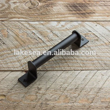 Black steel barn wood door handle