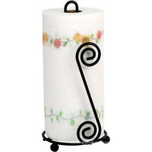 Black Scroll Paper Towel Holder