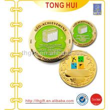 Gold Lackierte Farben Metall Münzen Abzeichen
