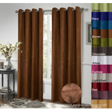 100% Polyester Suede Window Curtains