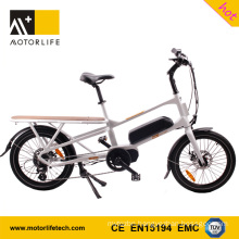 MOTORLIFE/OEM EN15194 HOT SALE 48v 500w 20inch mid motor cargo electric tricycle