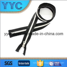 Long Open End Nylon Zipper with Double Color for Sportswear