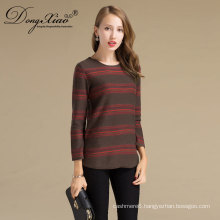 Fashion Stripped Student Pullover Cashmere Sweater Design For Girl