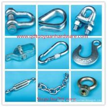 Proveedor de fábrica de China fabricante galvanizado aparejo de hardware marino