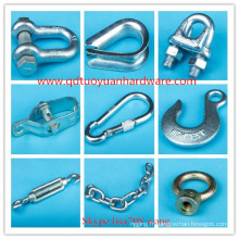 Chine Fabricant Fastener Zinc Plated Wire Rope Rigging