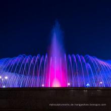 Musikbrunnen mit LED-Lichtern