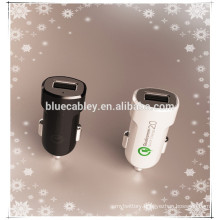 NEW DESIGN! 5V2.4A, 9V1.67A, 12V1.0A output 2 in1dual CAR charger for ALL smart device