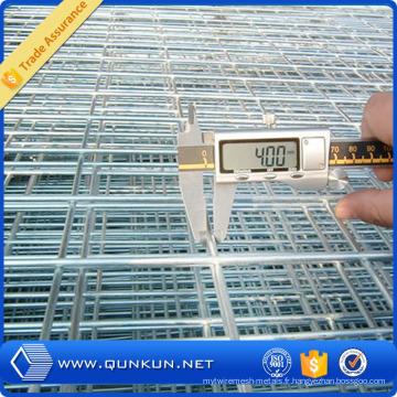 Treillis soudé galvanisé plongé chaud utilisé pour la construction