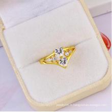 New Hot Sale Xuping élégant double anneau en forme de coeur en forme de coeur