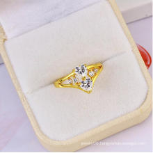 New Hot Sale Xuping Elegant Double Heart Shaped Diamond Ring