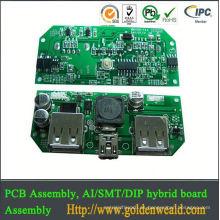 asamblea del pcb del circuito del conjunto del PWB de la flexión PCBA industrial del control con tecnología del agujero del Though