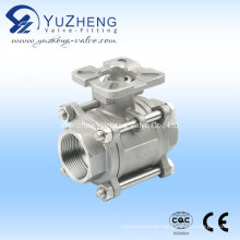Ss Three Way Ball Valve with Pad