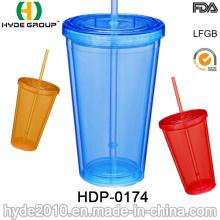 20oz barato doble pared vaso plástico para promoción (HDP-0174)
