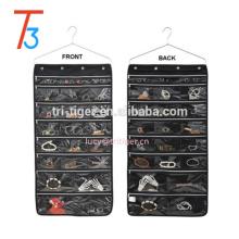 Jewelry Brooch Closet Display Organizer Dress Hanging Holder Pocket Storage