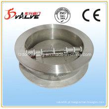 Válvula de retenção em aço inoxidável de chapa dupla