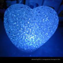 Les ventes chaudes ont conduit une petite lumière de nuit / un coeur de cristal une lumière de nuit