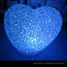 As vendas quentes conduziram a luz pequena da noite / coração de cristal uma luz da noite