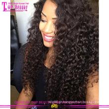 Paypal aceite Alta qualidade Mongolian Kinky Curly Hair Extensão Do Cabelo Humano