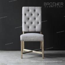 Fabricante de móveis tufting cadeira de sala de jantar de madeira