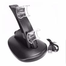 Black LED Light Quick Dual USB Charging Dock Stand Carregador para PlayStation 3 para PS3 Controller Console